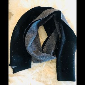 Other - 🧣 black white dots wool scarf 60 x 10